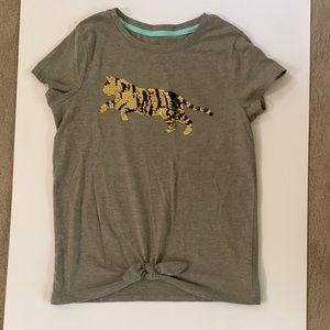 Girls flip sequence Tiger tshirt